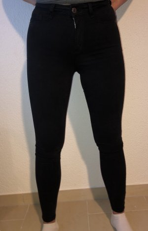 Gina Tricot High Waist Trousers black