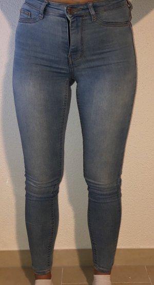 Gina Tricot Pantalon taille haute bleuet