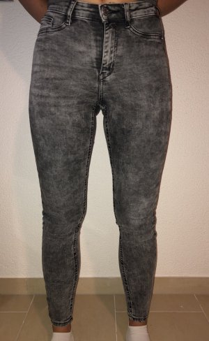 Gina Tricot Jeans taille haute gris