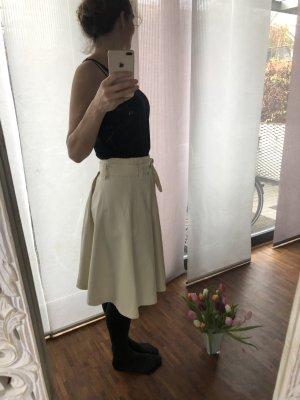Jupe taille haute blanc cassé-crème