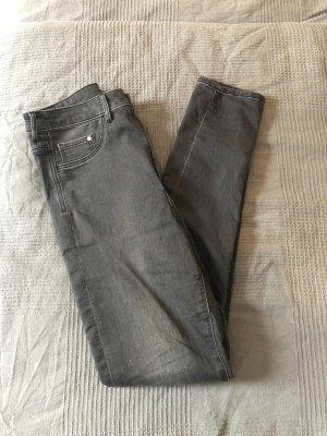 H&M Hoge taille jeans zwart-grijs