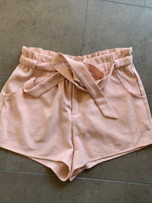 Short taille haute rosé