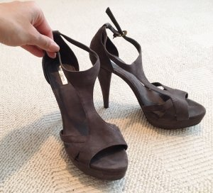 Zara High Heels dark grey imitation leather