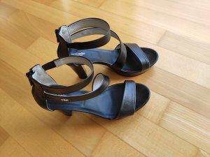 Nero Giardini Platform High-Heeled Sandal black leather