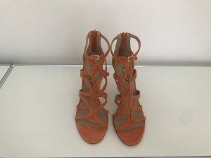 Highheel-Sandaletten in sommerlichem Orange