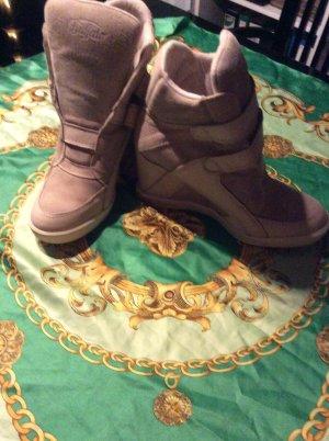 Highheel sneaker aus Wildleder