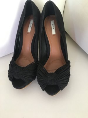 Highheels High Heels von Zara Wildleder Gr 37 Pumps schwarz
