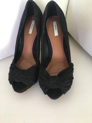 Highheels High Heels von Zara Wildleder Gr 37 Pumps schwarz