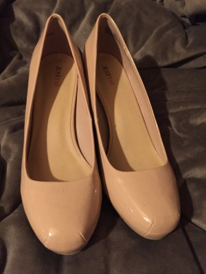 Highheels nude Lackleder