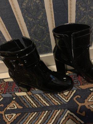 Highheels Plateau Schuhe Boots Stiefeletten Gr 38  aus Italien Tata Lack