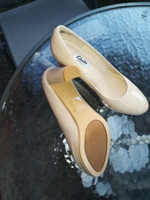 Clarks High Heels cream-pink leather