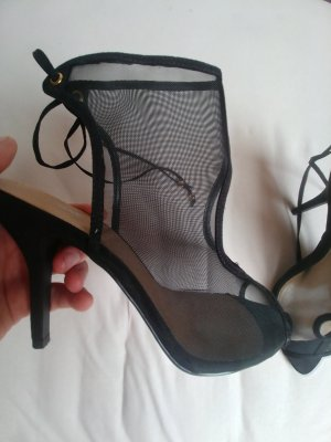 Next High Heel Sandal black synthetic fibre