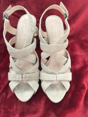 5th Avenue Platform High-Heeled Sandal beige