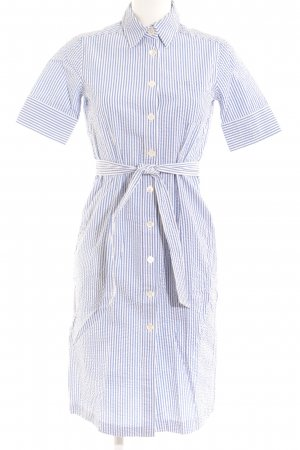 Highmoore Blusenkleid weiß-himmelblau Streifenmuster Business-Look
