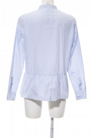 Highmoore Hemd-Bluse weiß-blau Streifenmuster Casual-Look