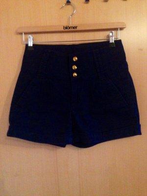 Hight waiste Shorts in blau