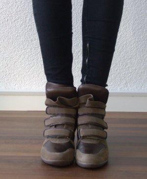 Hightop-Sneaker im Stil von Isabel Marant