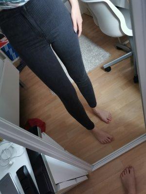 Bershka Hoge taille jeans donkergrijs