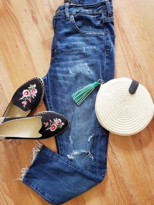 H&M Hoge taille jeans blauw