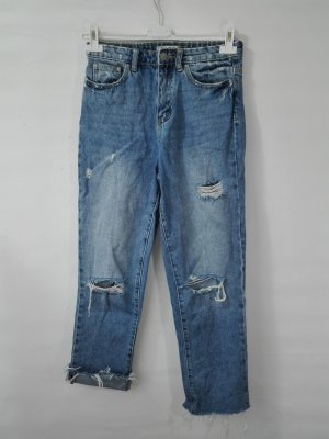 Hoge taille broek lichtblauw