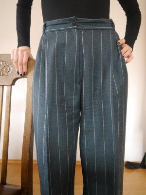 Highwaist Bundfaltenhose aus den 80ern / Vintage / Anzugshose / Nadelstreifen