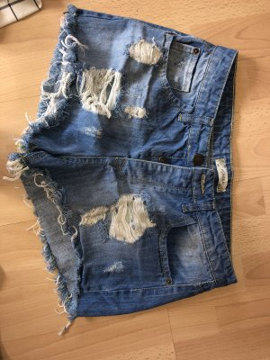 Highwaist destroyed zerissene hot pants neu