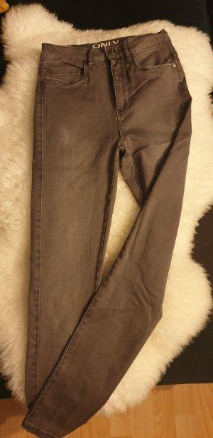 Only High Waist Trousers grey-dark grey