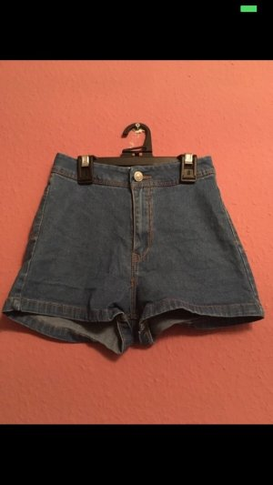 Pull & Bear Jeans a vita alta blu