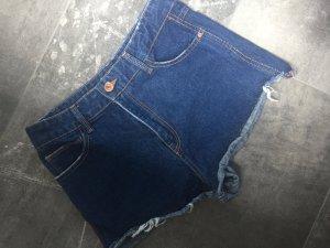 Highwaist Hotpant blau