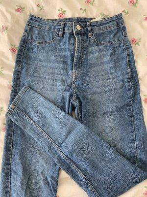 H&M Pantalone a vita alta blu