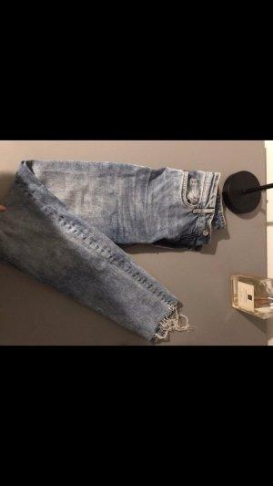 Jeans a vita alta azzurro