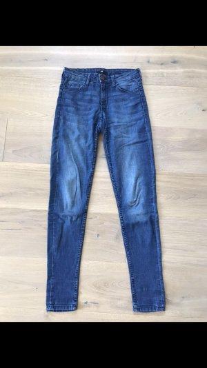 H&M Hoge taille jeans korenblauw