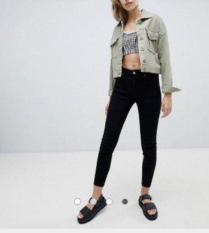 Bershka Jeans a vita alta nero