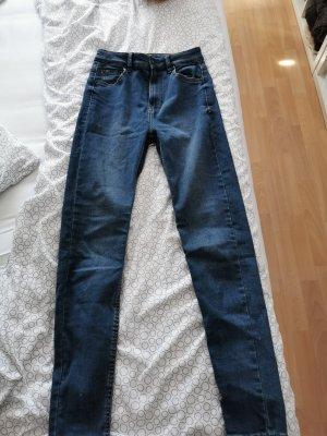 Bershka Hoge taille jeans blauw