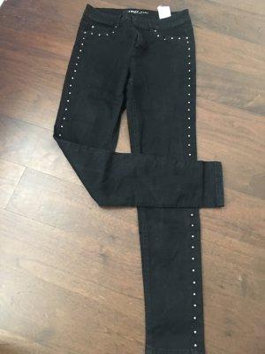 Orsay Jeans taille haute noir