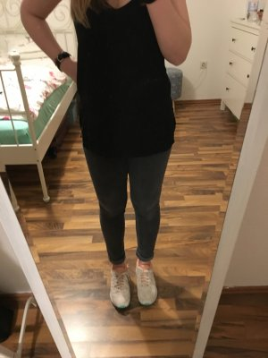 Highwaist Jeans H&M Grau Gr. 28-30 - super eng Blogger