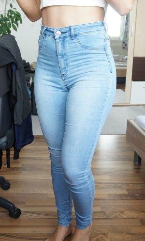 Highwaist Jeans hellblau