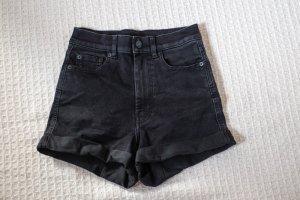 Monki High-Waist-Shorts black