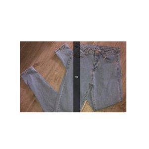 Hoge taille jeans azuur-lichtblauw