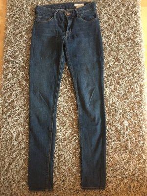 H&M Hoge taille broek blauw