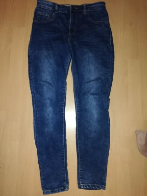 Pull & Bear Hoge taille jeans blauw