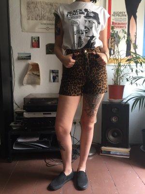Highwaist jeansshorts Vintage Leopard