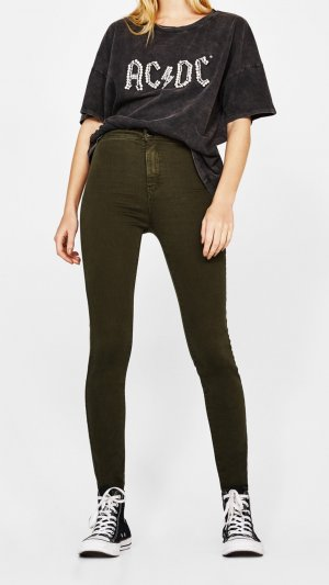 Bershka Jeggings caqui