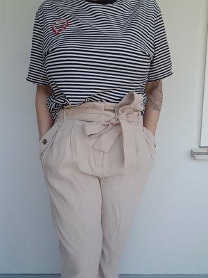 H&M High Waist Trousers cream