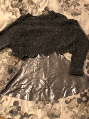 Zara High Waist Skirt silver-colored