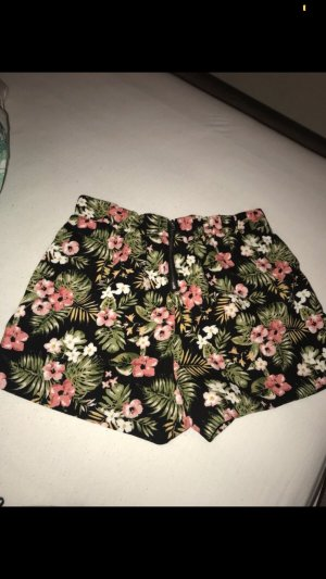 Amisu High-Waist-Shorts black-green