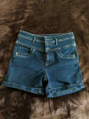 Orsay Pantaloncino di jeans blu scuro