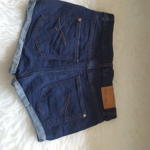 Highwaist-Shorts dunkelblau
