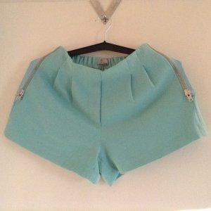 Highwaist Shorts in türkis