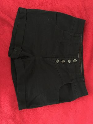 Highwaist Shorts mit Knopfleiste